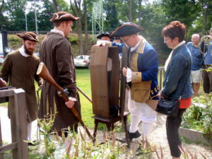 Flock Theater Delivering Leffingwell Museum the Leg of Benedict Arnold